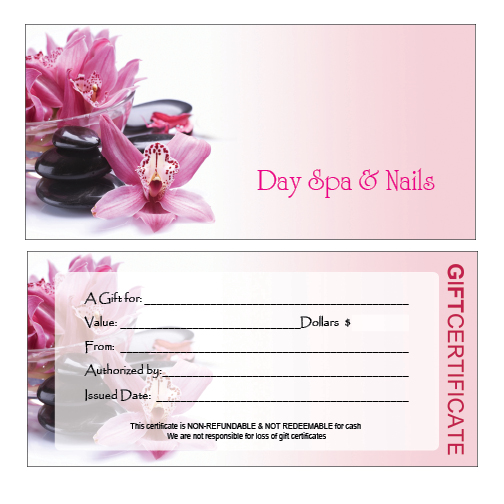 Hair nail spa printing single gift a 04 yelopaper Image collections