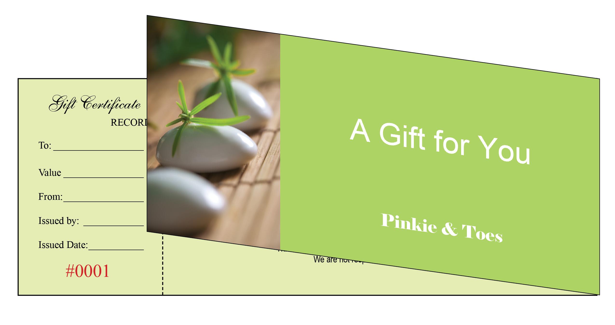 Nail Salon Gift Certificate Printing 119