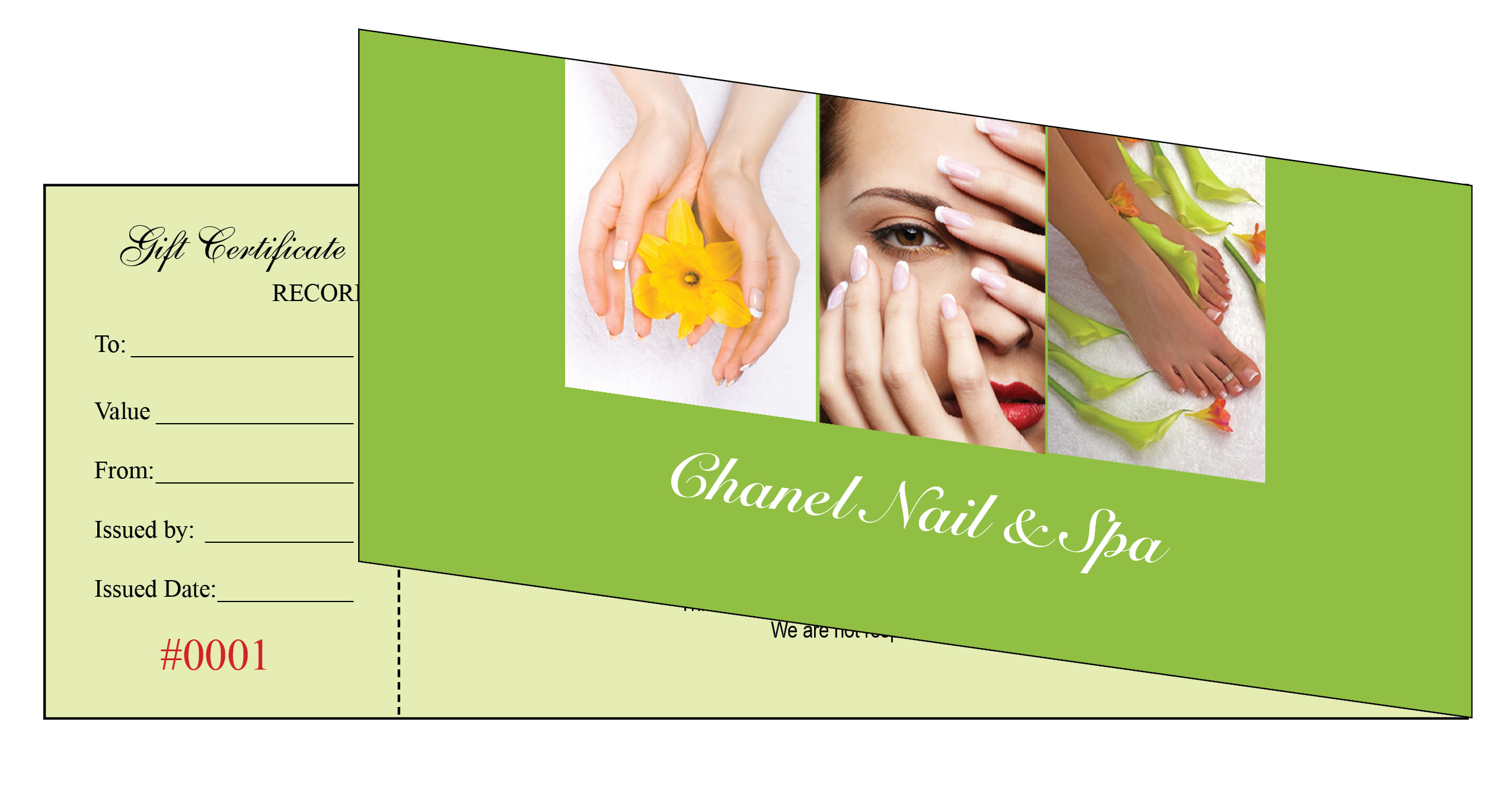 Nail spa gift certificate best nails 2018 gift certificates printing for nail salon xflitez Image collections