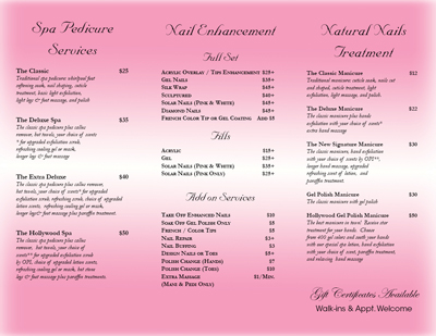 Nail Design And Spa Prices