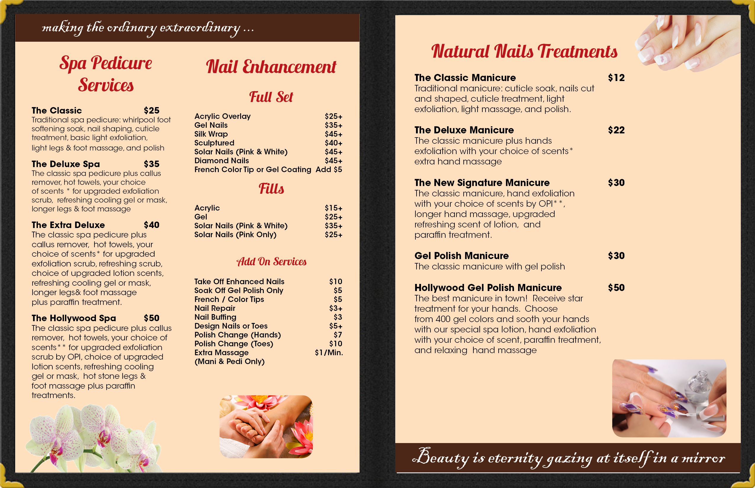 Nail Salon Menu